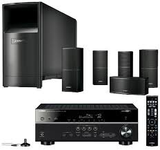 home theater yamaha. bose acoustimas10v speaker system + yamaha rxv479 av receiver home theater