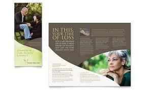 Memorial Pamphlet Template Memorial Funeral Program Brochure Template Word Publisher