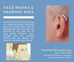face masks and hearing aids brookline