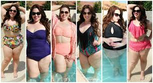 size 18 swimsuit plus size swimwear lookbook 6 swimsuit outfits youtube