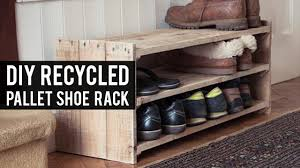 How To Make A Shoe Rack Diy Pallet Shoe Rack Youtube