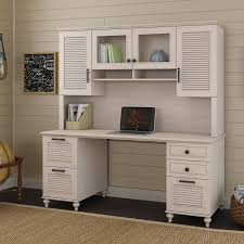 68 inch driftwood dreams white computer desk with hutch volcano dusk