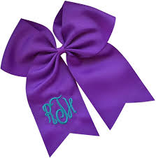 Cheer Bow Designs Funny Girl Designs Personalized Custom Monogram Embroidered Cheer Bow With Initial Script Your Colors
