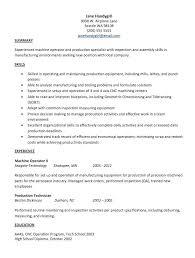 Machinist Resume Samples Machinist Resume Template Machinist Resume