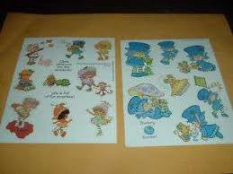 coloring book vine 80s sniff strawberry shortcake stickers 4