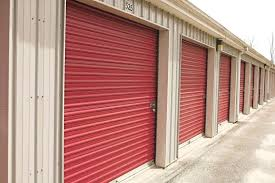 red garage door door row of storage units with red doors garage door garage door sensor