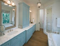 traditional blue bathroom