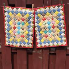 Quilted Pillow Cases / Vintage Decorative Pillow Shams / Crazy ... & Quilted Pillow Cases / Vintage Decorative Pillow Shams / Crazy Quilt Pillow  Covers Adamdwight.com