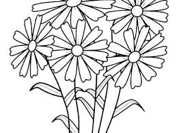 Flowers Coloring Pages Print Free Printable Summer Out May Flower