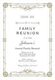 Printable Family Reunion Invitations Family Reunion Invitation Templates Free Greetings Island