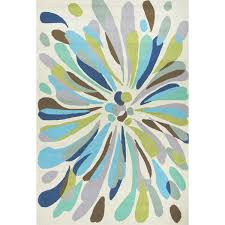 jaipur rugs colours flowerburst 2 x 3 indoor outdoor rug blue green ultimate patio