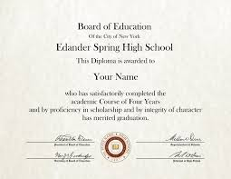 Fake - School High Outlet Diploma 10