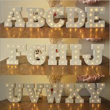 letter lighting. Romantic Wedding Decoration Letter Light Novelty DIY LED Wood 26 Alphabets 3D Letters Lamp Night Lighting