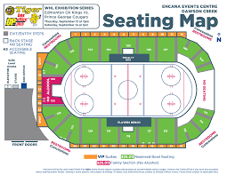Oil Kings Seating Chart Whl Exhibition Series Encana Events Centre Dawson