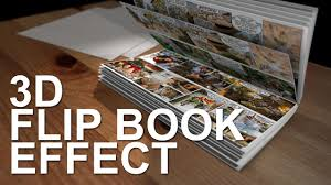 3d flip book effect after effects template
