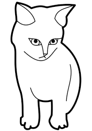 black and white cat clipart. On Black And White Cat Clipart