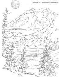 deer in meadow coloring page