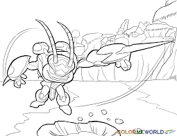Small Picture Swarm Coloring Page Skylanders Coloring Pages Pinterest