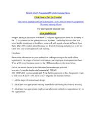 Ab 203 Unit 9 Assignment Diversity Training Memo By Pinck141 Issuu