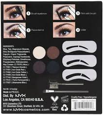 starter kit swatches sweetaholic beauty nyx makeup artist kit eyebrow kit set with stencil by nyx