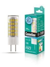 Светодиодная <b>лампочка LED</b> 3,<b>5W</b> 4500К <b>G4</b> 12В Camelion ...