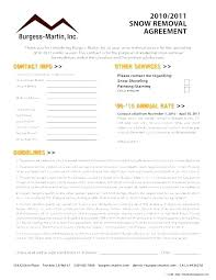 Snow Plow Contract Template New Removal Contracts Ate Quote
