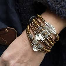 <b>Boho</b> Stack <b>Bracelets</b>, Tribal <b>Bracelets</b>, <b>Hematite Bracelets</b>, Set of ...