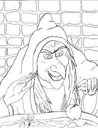 Scary Halloween Witch Coloring Pages Halloween Arts