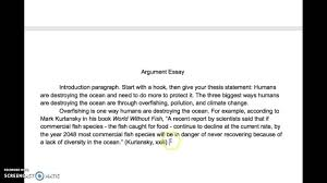 argument essay body paragraphs