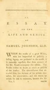 index an essay on the life and genius of samuel johnson djvu an essay on the life and genius of samuel johnson djvu