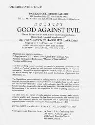 hanne good against evil press release