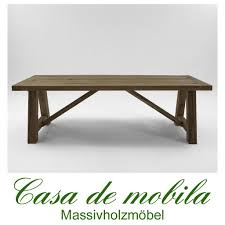 Tisch Esstisch Rustikal Räucheröl Finish 240x100 Firenze