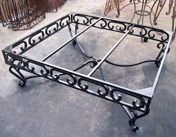 heavy wrought iron coffee table base