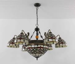 stained glass chandeliers tiffany chandelier stained glass lamp ceiling pendant