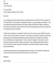 Academic Advisor Cover Letter Academic Advising Cover Letter 1202