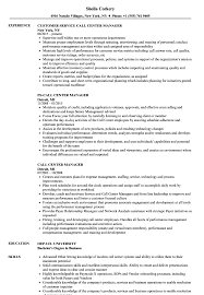 Call Center Skills Resume Call Center Manager Resume Samples Velvet Jobs 66