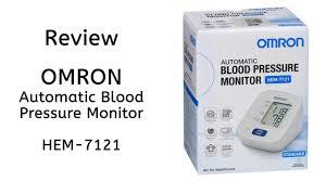 Omron Blood Pressure Monitor Comparison Chart Omron Blood Pressure Monitor Hem 7121 Review Youtube