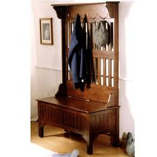 Hall Tree Coat Rack Storage Bench Bench Antique Hall Tree Storage Bench Metal Hat Hooks Drawer Black 89