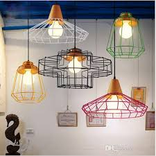 bird cage lighting. New Arrivals Colorful Birdcage Pendant Lamps Scandinavian Modern Minimalist Art Pyramid Iron Light Creative Restaurant Lights Kitchen Bird Cage Lighting