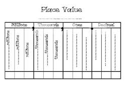 Decimals Place Value Chart Worksheets Teaching Resources Tpt