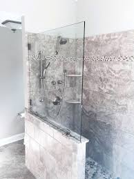 showers shower half wall glass splash panel shower glass wall mount