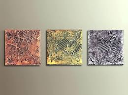 target art set wall art sets set of 3 small textured paintings on canvas gold silver target art set