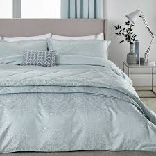 bedeck blume bedding in soft blue