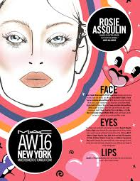 James Face Chart Mac Cosmetics New York Aw2016 Face Chart Roundup Style