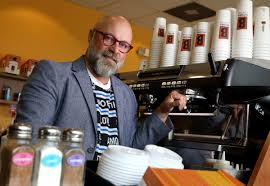 When your coffee matches the autumn trees. Biggby Coffee Co Ceo Drinks 14 Espressos A Day