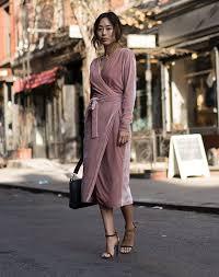 A Velvet Wrap Dress