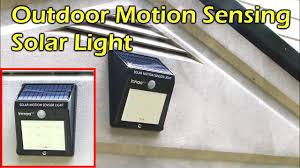 Everbright Solar Light Amazon Solar Powered Outdoor Motion Sensing Led Light Waterproof