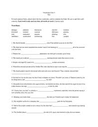 Vocab Answers Level D Sadlier Vocabulary Test Level D Worksheets Teaching
