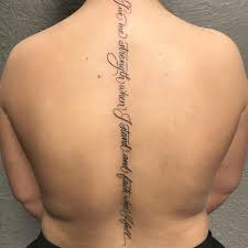Spine Tattoos Quotes Stunning 48 Best Spine Tattoos For Men And Women Designs Meanings 48