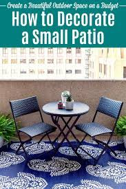 to decorate a small patio on a budget